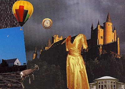 """Enchantment - Digital print from paper collage, open edition 6""""x 9"""""""