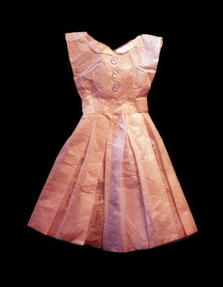 """Study for Dresses - Paper textile construction 6""""x 16""""x 1/2"""""""